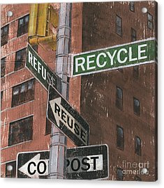 Nyc Broadway 1 Acrylic Print by Debbie DeWitt