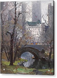 Nyc Central Park Acrylic Print by Ylli Haruni