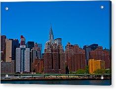 Nyc Chrysler Building  Acrylic Print by Arthur Sa