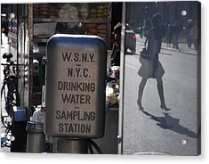 Nyc Drinking Water Acrylic Print by Rob Hans