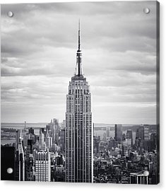 Nyc Empire Acrylic Print by Nina Papiorek