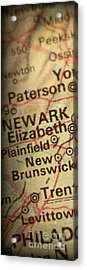 Nyc Enlarged - Left Panel Of 3 Acrylic Print by ELITE IMAGE photography By Chad McDermott