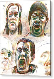 Acrylic Print featuring the drawing Nyc Expressions by Al Goldfarb