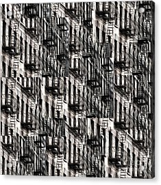Nyc Fire Escapes Acrylic Print