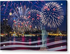 Nyc Fourth Of July Celebration Acrylic Print