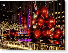 Acrylic Print featuring the photograph Nyc Holiday Balls by Chris Lord