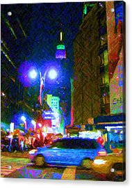 Acrylic Print featuring the photograph Nyc In Tie Dye by Susan Carella
