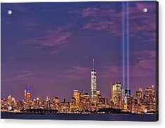 Nyc  Landmarks Wtc Tribute In Light Acrylic Print
