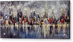 Nyc Lights Acrylic Print
