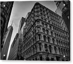 Nyc - Lower Manhattan 002 Bw Acrylic Print by Lance Vaughn