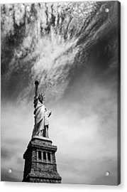 Nyc Miss Liberty Acrylic Print by Nina Papiorek