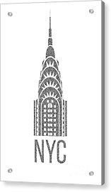 Nyc New York City Graphic Acrylic Print by Edward Fielding