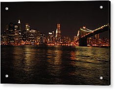 Nyc Night Acrylic Print by Maria Lopez