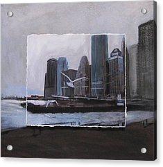 Nyc Pier 11 Layered Acrylic Print by Anita Burgermeister