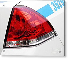 Nyc Police Car Brake Light Acrylic Print