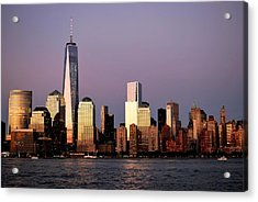 Nyc Skyline At Dusk Acrylic Print
