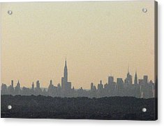 Nyc Skyline At Sunset Acrylic Print