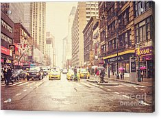 New York City Streets Acrylic Print by Joan McCool