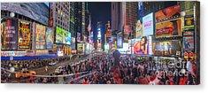 Nyc Times Square Panorama Acrylic Print