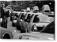 Nyc Traffic Bw16 Acrylic Print by Scott Kelley