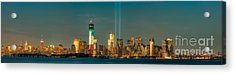 Nyc Tribute In Light Skyline Panorama I Acrylic Print by Clarence Holmes