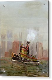 Nyc Tug Acrylic Print by Christopher Jenkins