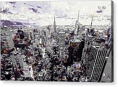 Nyc View From Rockefeller Center Acrylic Print