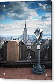 Nyc Viewpoint Acrylic Print by Nina Papiorek