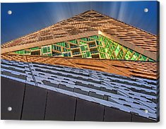 Acrylic Print featuring the photograph Nyc West 57 St Pyramid by Susan Candelario