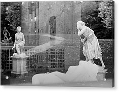 Nyc Whispering Statues Acrylic Print
