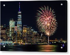 Acrylic Print featuring the photograph Nyc World Trade Center Pride by Susan Candelario