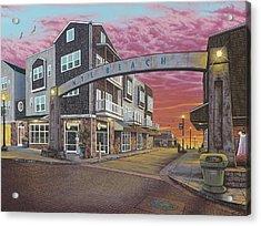 Nye Beach Sunset Acrylic Print