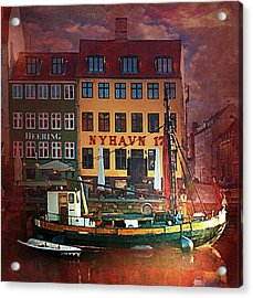 Acrylic Print featuring the photograph Nyhavn 17 by Jeff Burgess