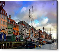 Nyhavn Harbour Acrylic Print by Dorothy Berry-Lound