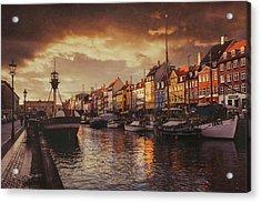 Nyhavn Sunset Copenhagen Acrylic Print by Carol Japp