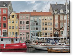 Acrylic Print featuring the photograph Nyhavn Waterfront In Copenhagen by Antony McAulay