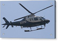 Nypd Aviation Unit Acrylic Print by Christopher Kirby
