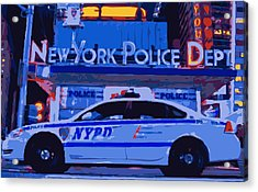 Nypd Color 16 Acrylic Print