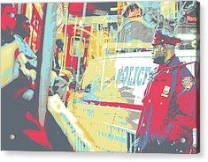 N Y P D Acrylic Print by Shay Culligan
