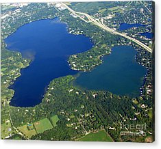 O-008 Oconomowoc Lake Waukesha County Wisconsin Acrylic Print by Bill Lang