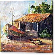 O Barco Acrylic Print by Leomariano artist BRASIL