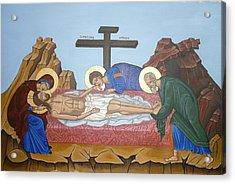 O Epitafos Jesus Acrylic Print by Marinella Owens