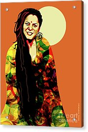O' Fania Acrylic Print by Michael Thompson