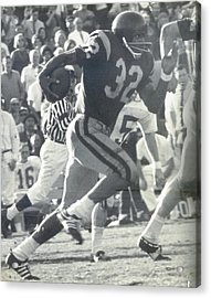O J Simpson - Rose Bowl 1969 Acrylic Print
