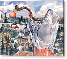 O Jerusalem Acrylic Print by Barbara Jung