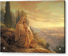 Acrylic Print featuring the painting O Jerusalem by Greg Olsen