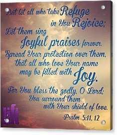 O Lord, Hear Me As I Pray;  Pay Acrylic Print