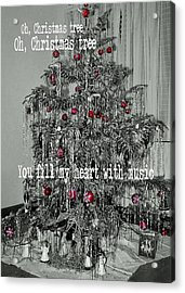 O Tannenbaum Quote Acrylic Print by JAMART Photography