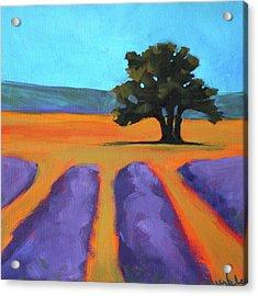 Oak And Lavender Acrylic Print by Nancy Merkle