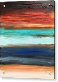 Oak Creek #28 Southwest Landscape Original Fine Art Acrylic On Canvas Acrylic Print